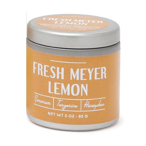 Paddywax Fresh Meyer Lemon Farmhouse Tin Candle