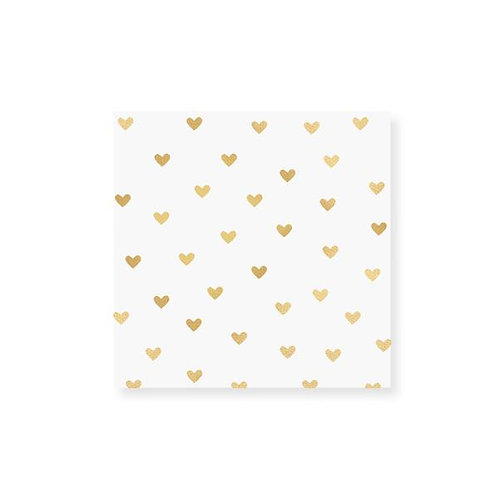 Small Heart Gold Foil Matchbox