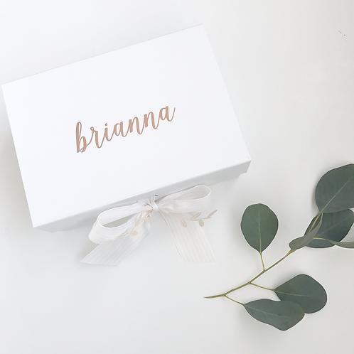 Small Personalized Ribbon Closure White Box
