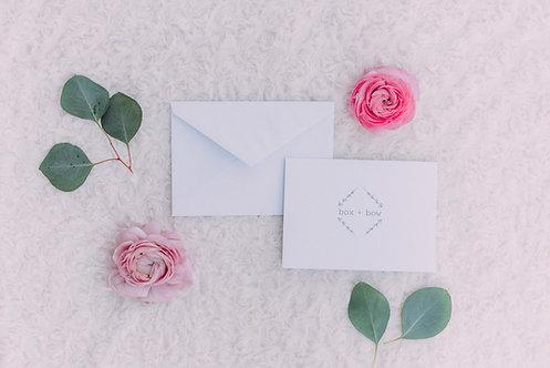 Folded Logo Notecard