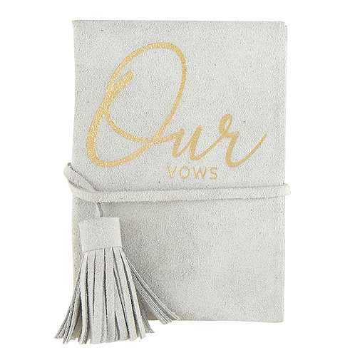 "Suede ""Our Vows"" Vow Book"