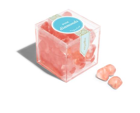 Sugarfina Pink Strawberry Diamonds Candy Cube