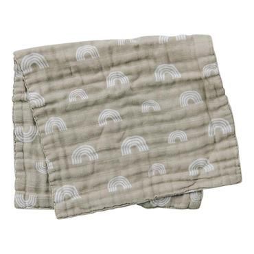 Mebie Baby Sand Rainbow Muslin Burp Cloth