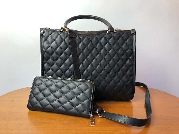 Black Purse with Wallet