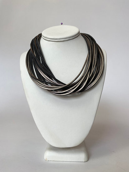 Bronze Leather Necklace