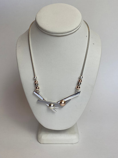 Silver Branches w Rose Gold & Silver Accents Very Nice