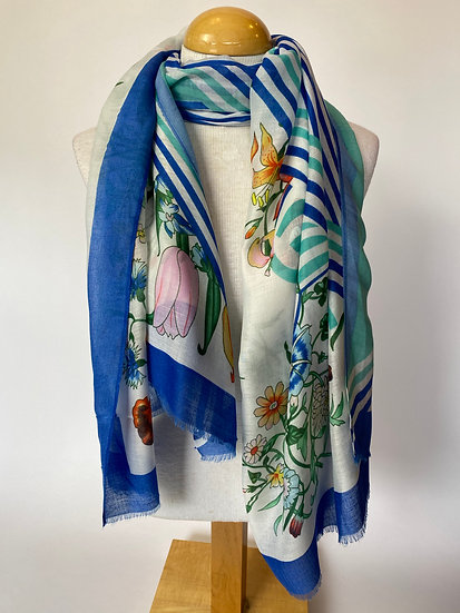 Stripes and Pattern Scarf / Wrap