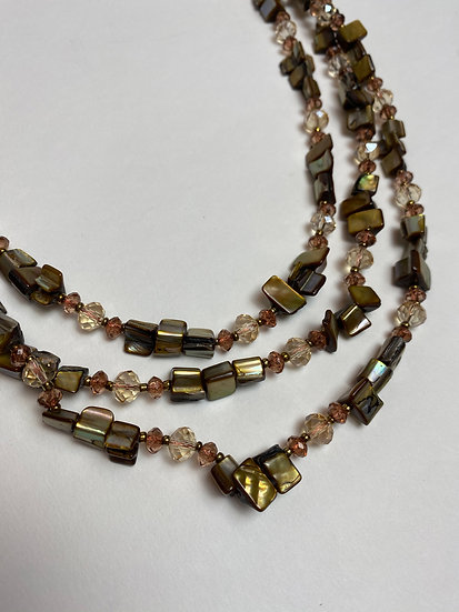 Brown Tone Beaded Necklace