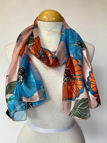 Floral Shiny Scarf