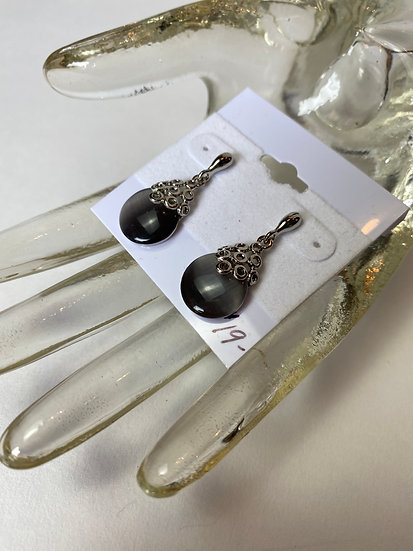 Grey and Silver Mesmerizing Earrings