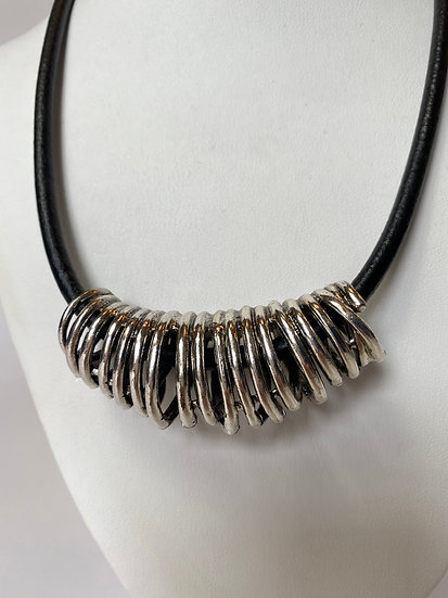 Silver Coiled Necklace
