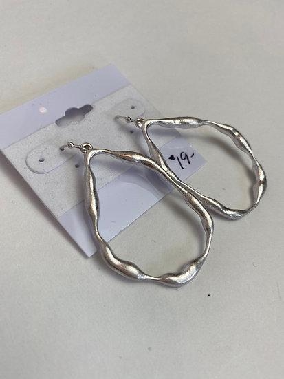 Teardrop Artsy Hoop Earrings