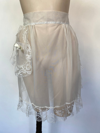 VTG NOSWTAGS  Naughty Little Sheer Chiffon Nylon Apron Or Not!