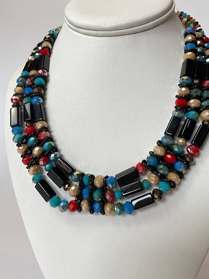 MultiColor and Black Necklace