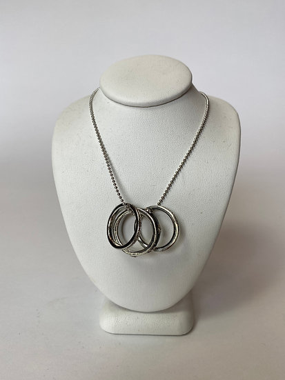 Triple Ring with Rhinestone Necklace