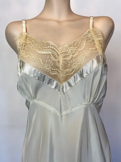 VTG NOSWTAGS Amazing Crepe Dijon Satin Rayon Slip Dress Bias Cut SZ 36