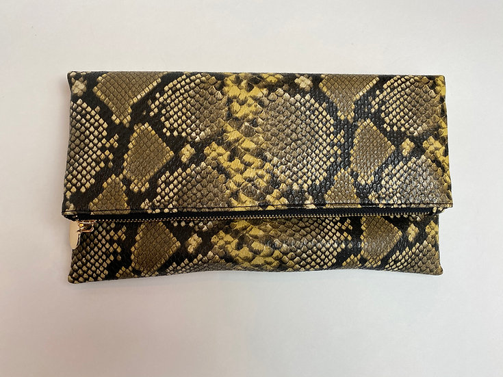 Faux Snake Skin Clutch or Crossbody.