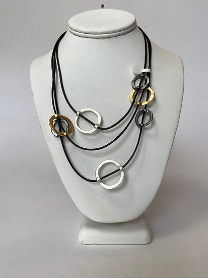 Black, Gold and Silver Necklace