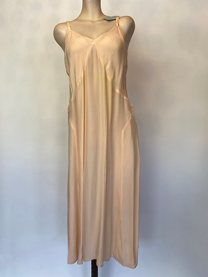 VTG NOSWTAGS 1940'S Slip Dress Satin Rayon SZ 40 Bias Cut Sleek