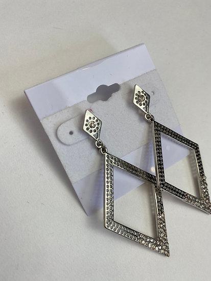 Diamond Shaped Hoop Earrings