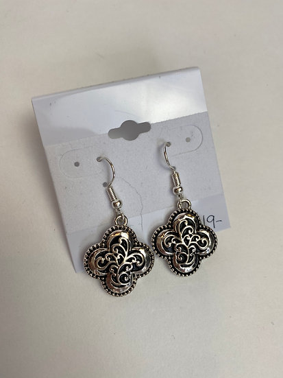 Small Silver and Black Earrings