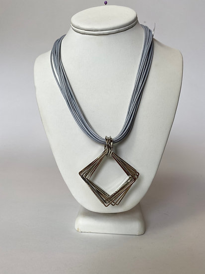 Silver and Blue/Grey Necklace