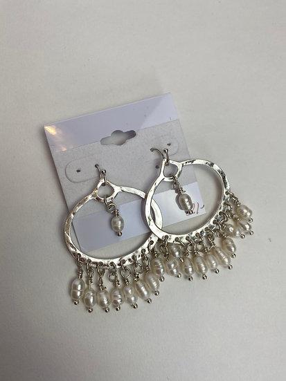 Silver and Ivory Tassel Earrings