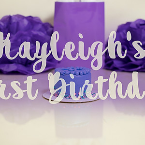 Kayleigh's First Birthday