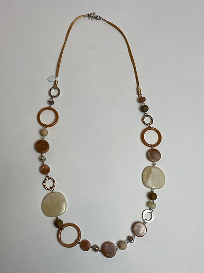 Brown Tone Circles Necklace