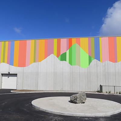 Forslag til utsmykning, Bogafjellhallen, med Magny Tjelta