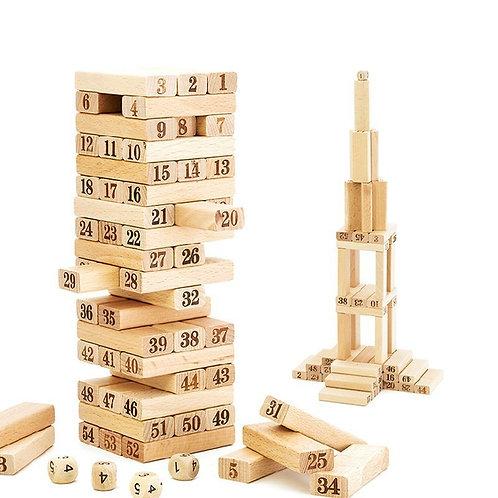Փայտե խաղ Ջենգա թվերով միջին