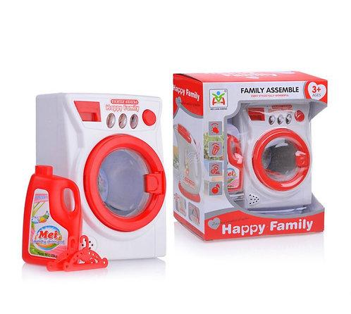 Խաղալիք լվացքի մեքենա լույսով և պտտվող