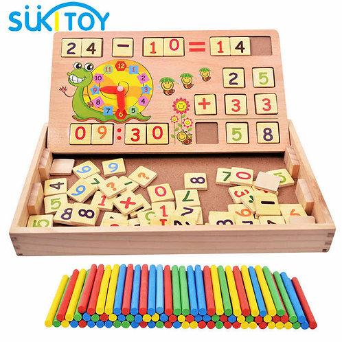 Փայտե զարգացնող խաղ թվեր և ժամեր