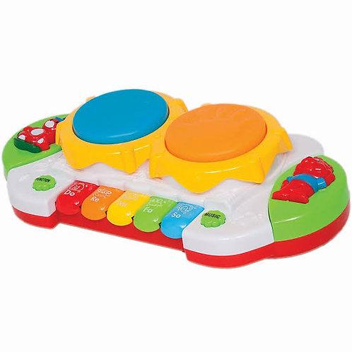 Մանկական երաժշտական խաղալիք թմբուկ նոտաներով
