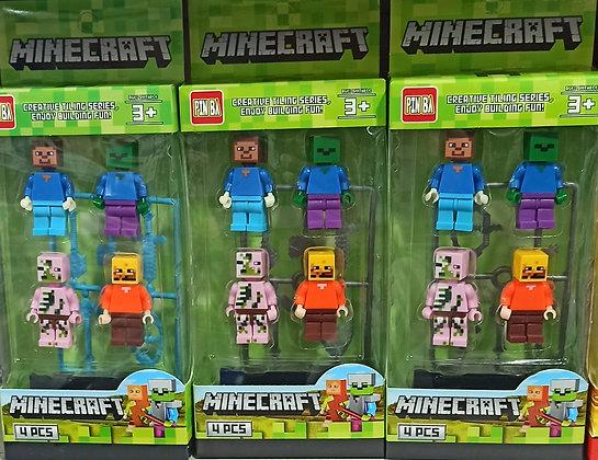 Minecraft ֆիգուրկաներ 4-ը 1-ում