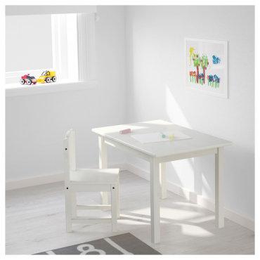 Մանկական փայտե սեղան 2 աթոռով