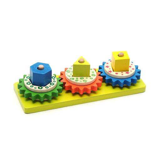 Փայտե զարգացնող խաղալիք 3 պատկերով