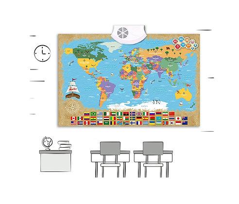 Զարգացնող  պաստառ Խոսող քարտեզ Մանկան