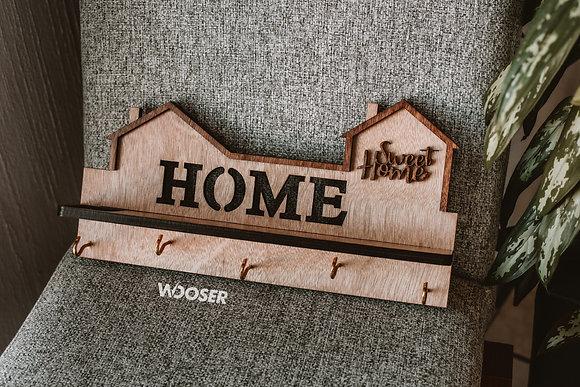 Porta Llaves de Madera-Sweet Home