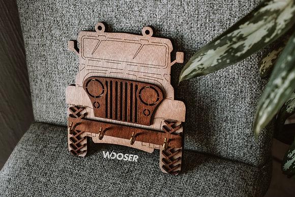 Porta Llaves de Madera-Jeep