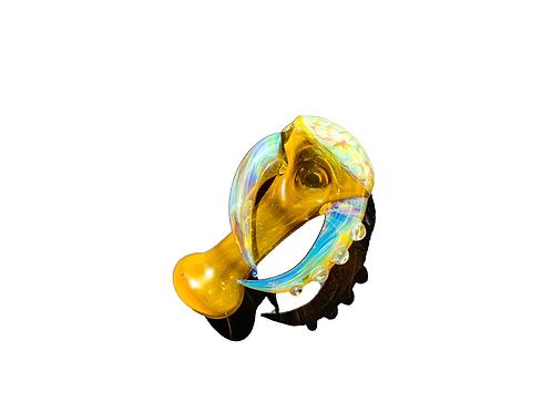 Fumed Horn  Honeycomb Capped | ChrisTopher Blevins