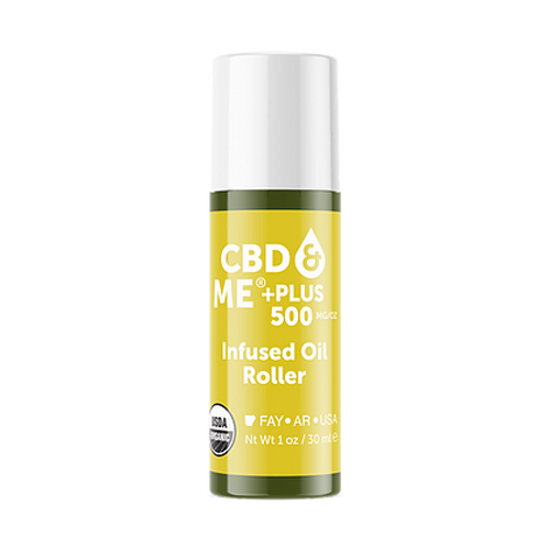 CBD & Me: Organic Roll-On with Hemp Extract - 500 mg/oz (1 oz)