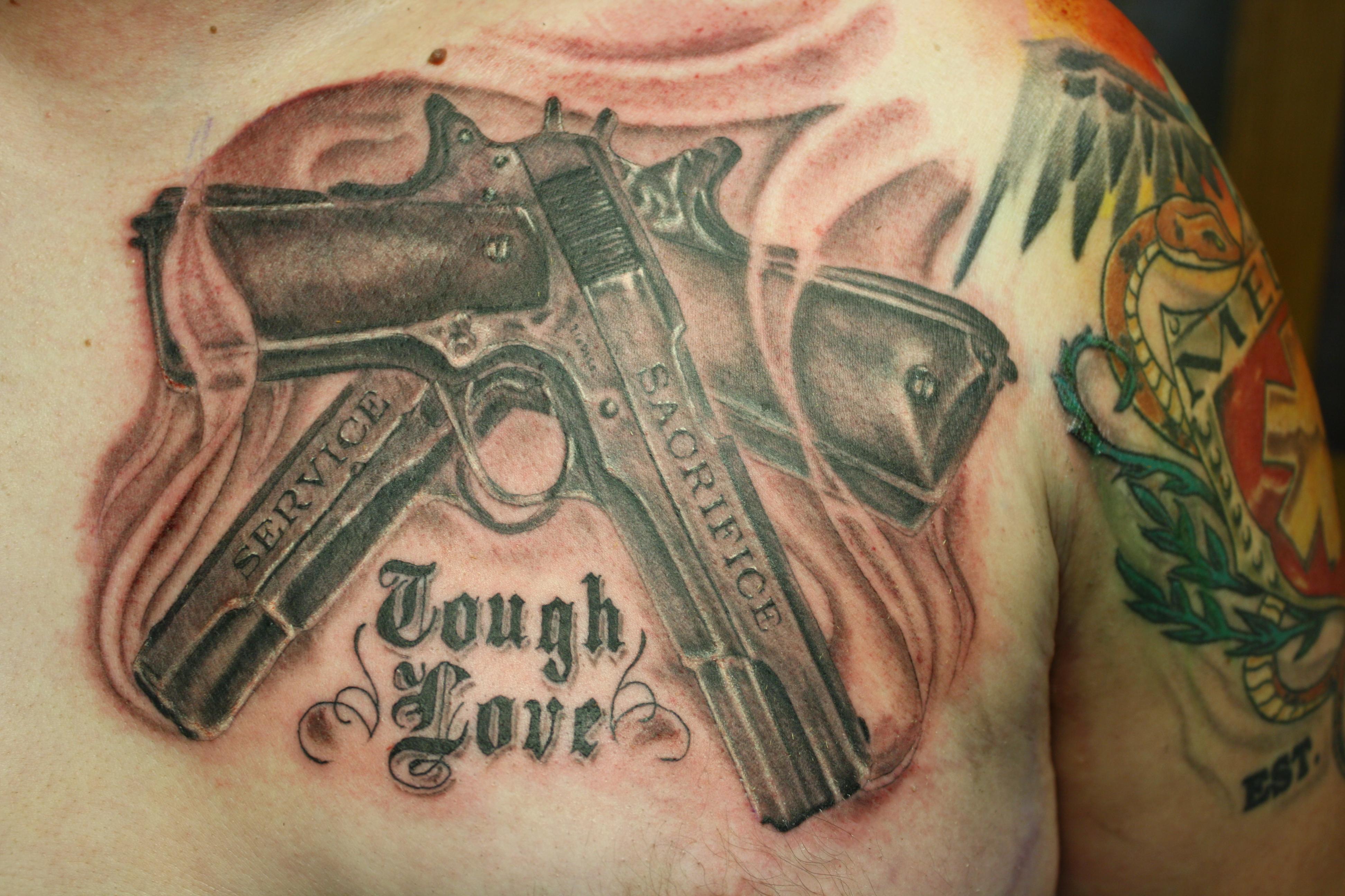 1911 cross guns