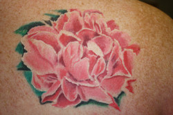 Color Peony Tattoo