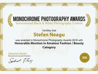 Honorable Mention at Monochrome Awards 2016