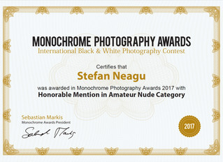 Two Honorable Mentions at Monochrome Awards