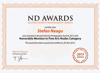 Honorable Mention at ND Awards 2015