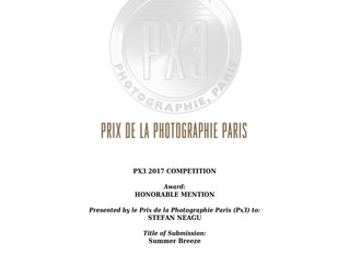 Honorable Mention at Prix de la Photographie Paris 2017