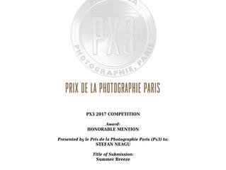 Honorable Mention at Prix de la Photographie Paris 2017