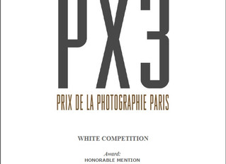 "Honorable mention at PX3, Prix de la Photographie Paris, ""WHITE"" competition"